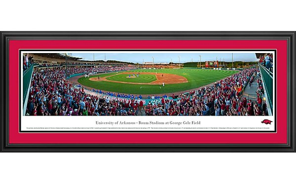 NCAA Baseball Deluxe Framed Photographic Print by Blakeway Worldwide Panoramas, Inc