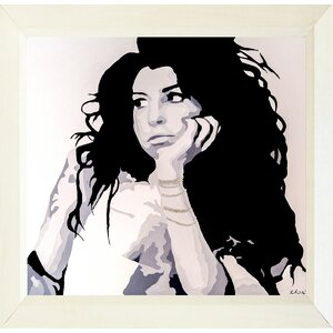 'Searching Amy Winehouse Tribute' Framed Painting Print by Buy Art For Less