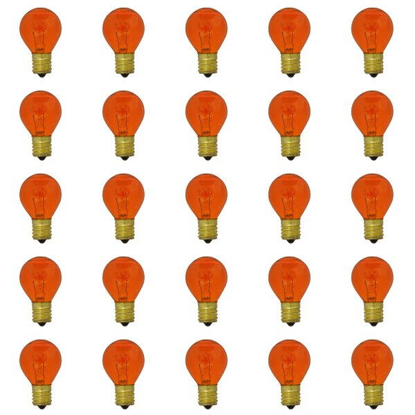 10W E17 Dimmable Incandescent Light Bulb Transparent Orange (Set of 25) by Bulbrite Industries