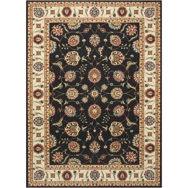 Botkins Black Area Rug by Three Posts