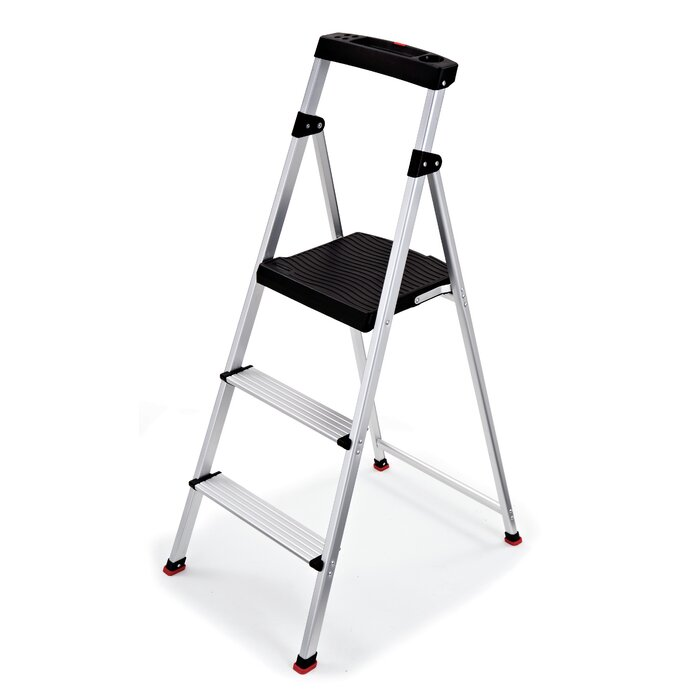 Super 3 Step Aluminum Step Stool With 225 Lb Load Capacity Pabps2019 Chair Design Images Pabps2019Com