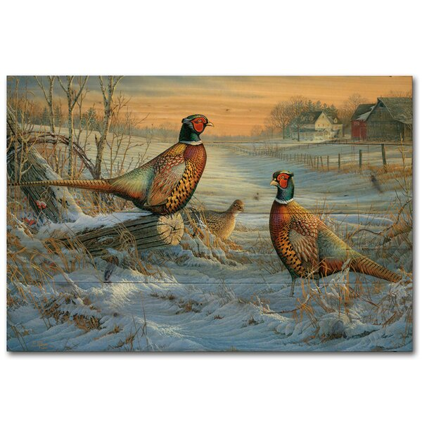 Winter Colors by Sam Timm Painting Print Plaque by WGI-GALLERY