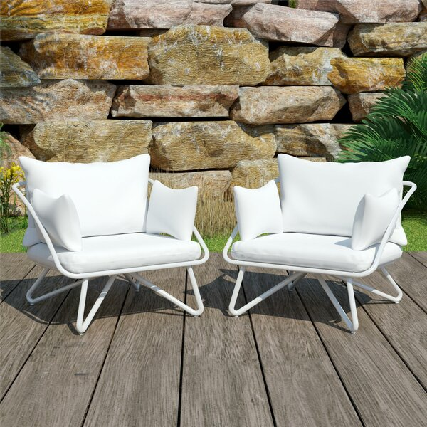Teddi Patio Chair with Cushions (Set of 2) by Novogratz