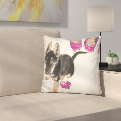 East Urban Home Naughty Shepherd Throw Pillow by East Urban Home