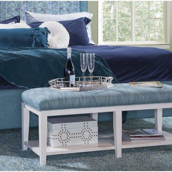 Preston Upholstered Shelves Storage Bench by Braxton Culler Braxton Culler