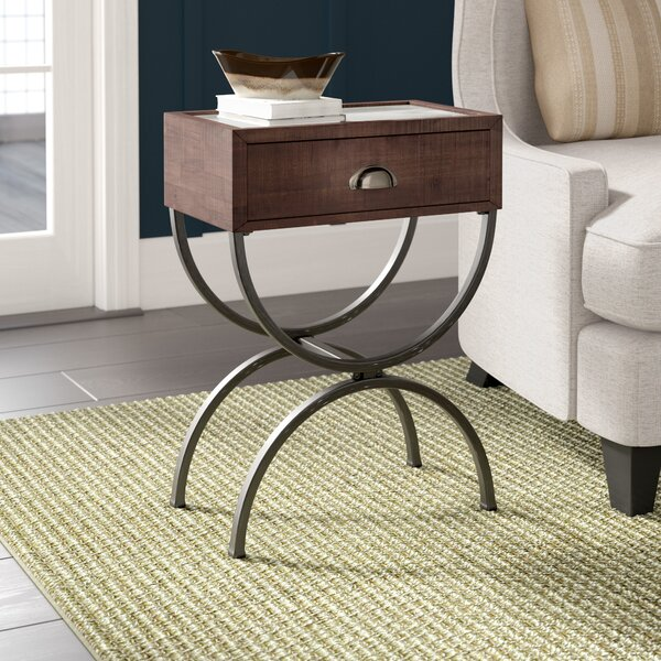 Bryana End Table with Storage by Laurel Foundry Modern Farmhouse