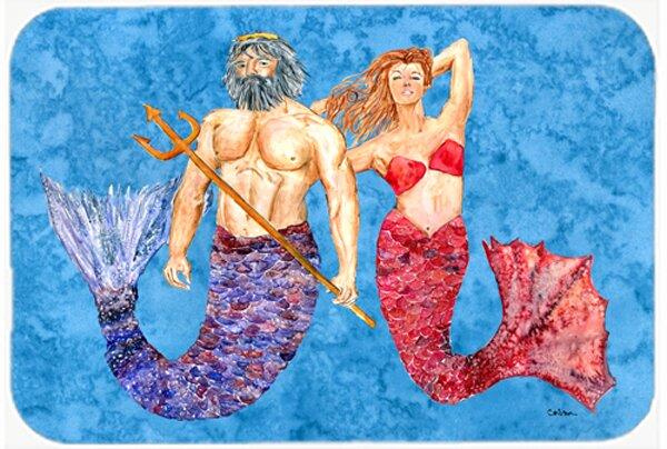 Mermaid and Merman Glass Cutting Board by Caroline's Treasures