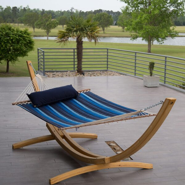 Tamara Quilted Sunbrella Tree Spreader Bar Hammock by Freeport Park