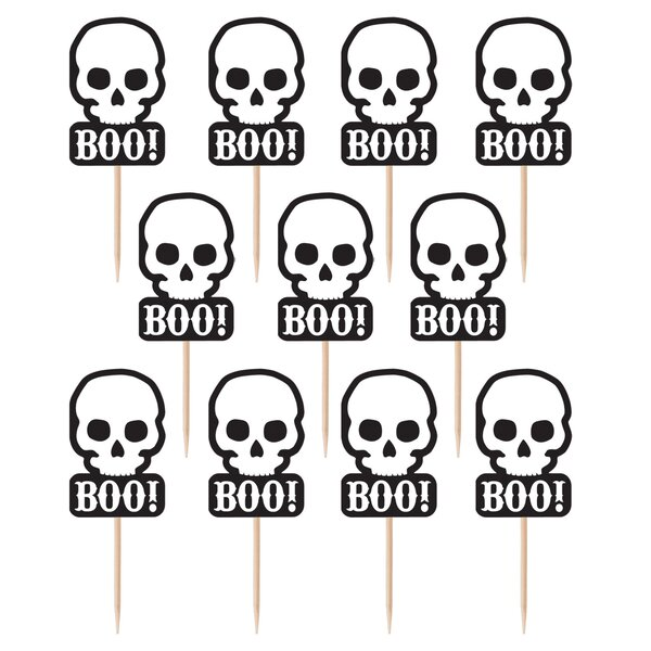 Halloween Skull Party Pick (Set of 72) by Amscan