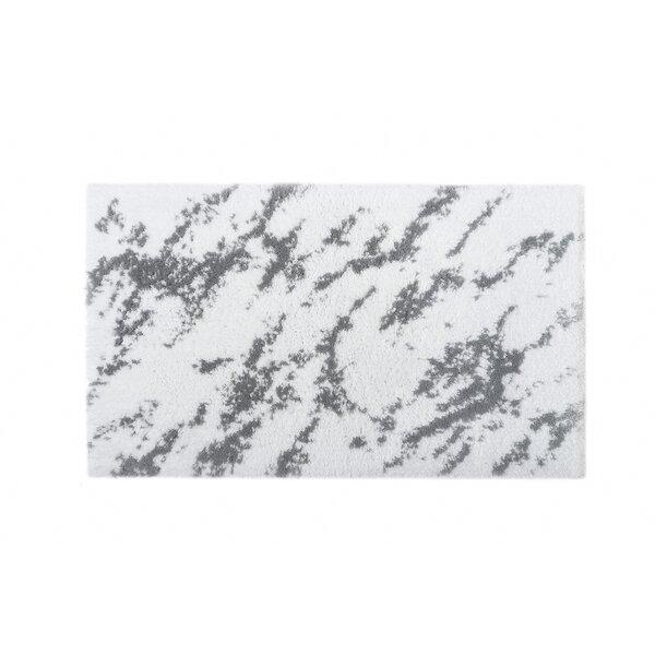 Bearcreek Rectangle 100% Cotton Non-Slip Abstract Bath Rug