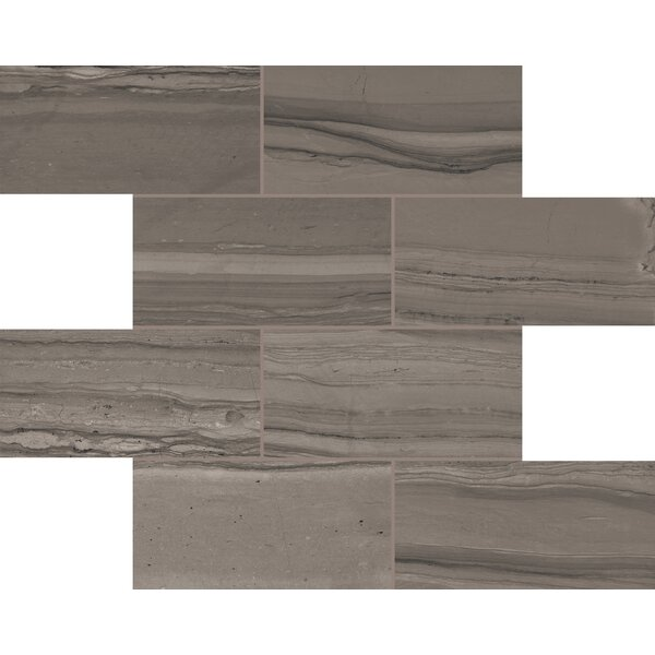 Travel Amazonian Bark 12 x 12 Porcelain Mosaic Tile in Burnished Slate by Lea Ceramiche