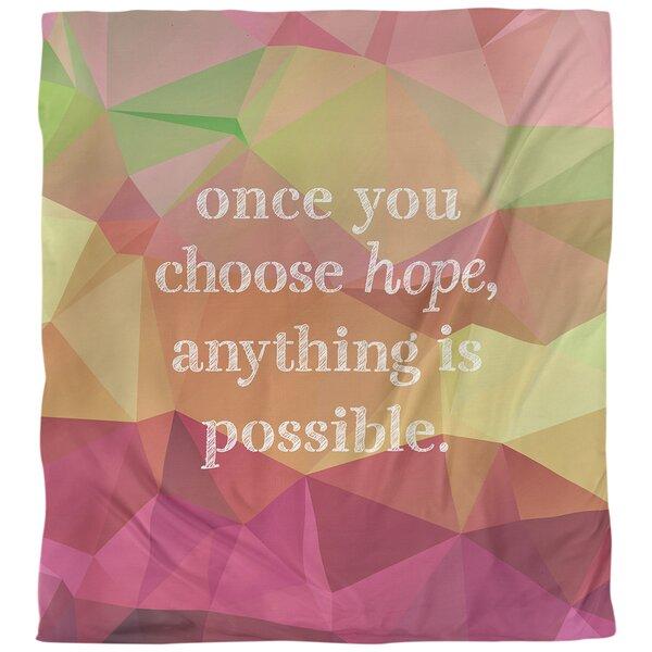 Choose Hope Quote Single Duvet Cover