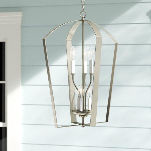 Chauvin 6 - Light Lantern Geometric Chandelier by Charlton Home Charlton Home