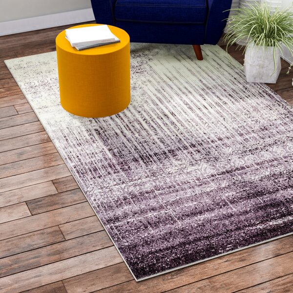 Dungan Purple Area Rug by Mercury Row