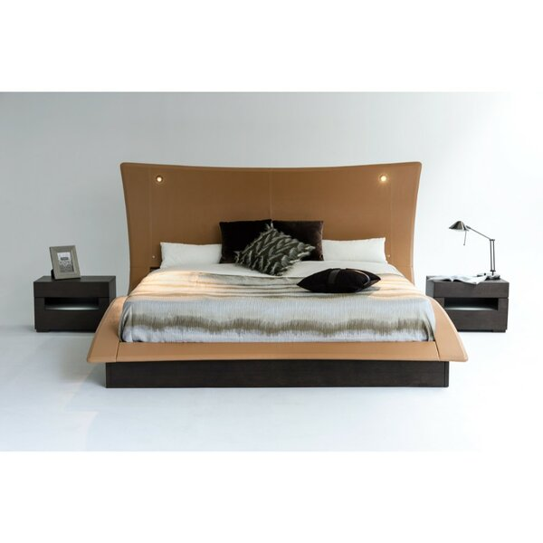 Lyerly King Upholstered Platform Bed with Mattress by Orren Ellis