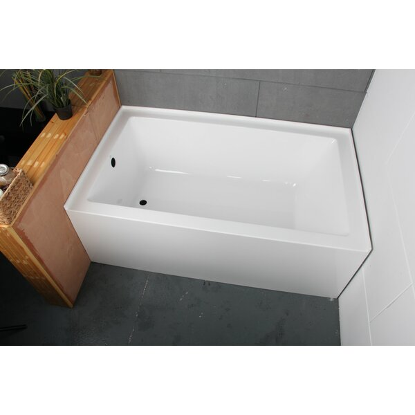 Acrylic 60 x 36 Alcove Soaking Bathtub by Kingston Brass