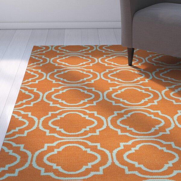 Aarti Orange/Teal Indoor/Outdoor Area Rug by Willa Arlo Interiors