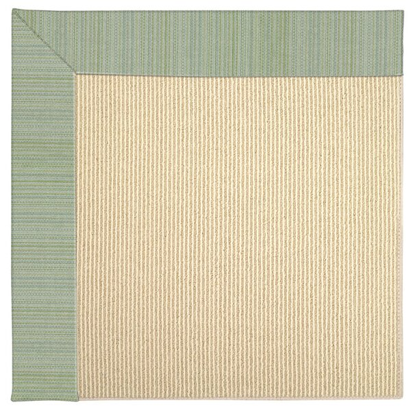 Lisle Machine Tufted Green Spa Indoor/Outdoor Area Rug by Longshore Tides