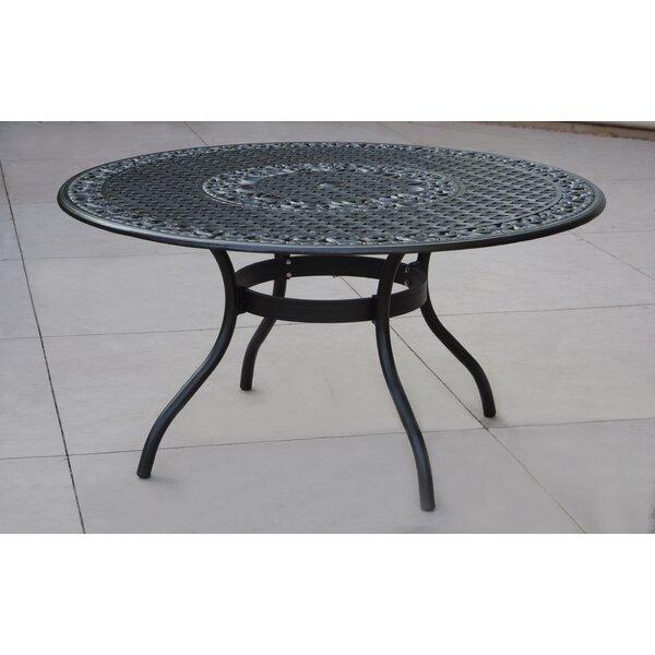 Pedroza Aluminum Dining Table by Fleur De Lis Living