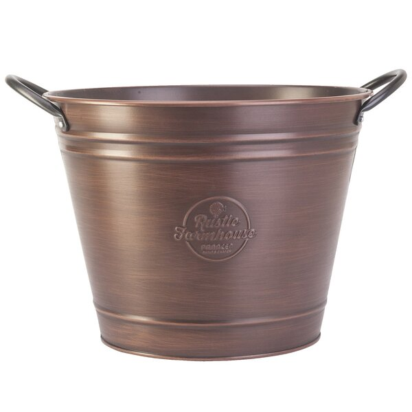 Wash Tub Steel Nursery Pot Planter by Panacea Products