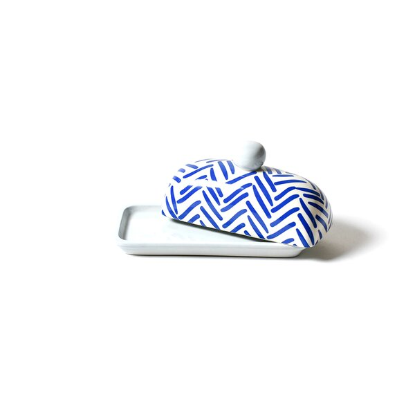 Herringbone Domed Butter Dish by Coton Colors