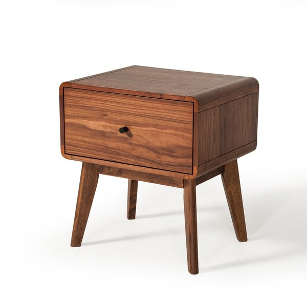 Tanya Mid-Century 1 Drawer Nightstand by Corrigan Studio