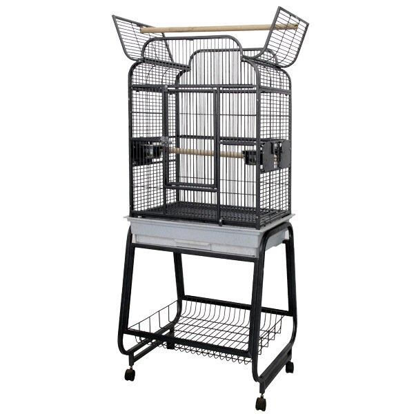 McKinley Victorian Open Play Top Bird Cage with Stand by Tucker Murphy Pet