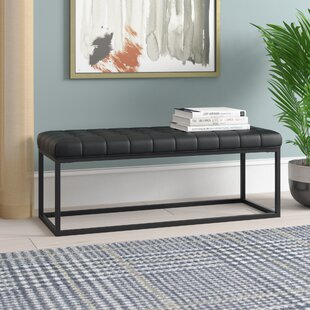 Feld Faux Leather Bench