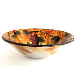 Find Tuscany Glass Circular Vessel Bathroom Sink By Fontaine by Italia