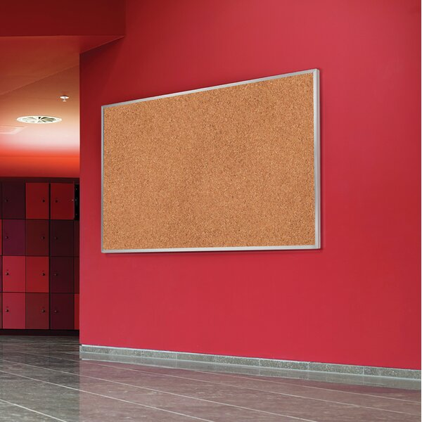 Ghent Natural Cork Bulletin Board with Aluminum Fr