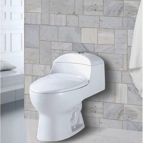 Yukon 1.28 GPF Round One-Piece Toilet by Aqualife Corp