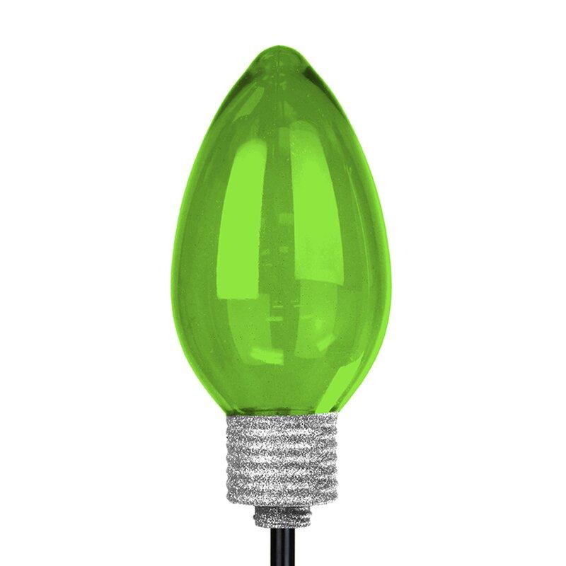 the holiday aisle solar large christmas bulb garden stake reviews