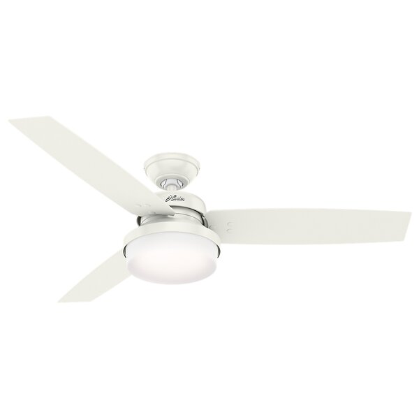 52 Sentinel 3 Blade LED Ceiling Fan with Remote by