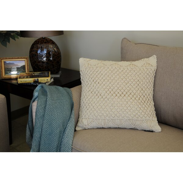Osterhout Basketweave Cotton Throw Pillow by Bungalow Rose