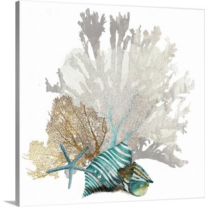 'Coral' by Aimee Wilson Graphic Art Print on Canvas by Great Big Canvas