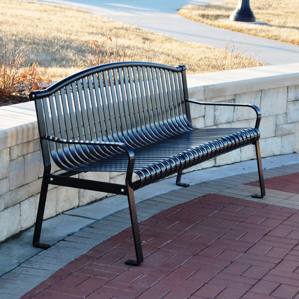 Rockford Steel Park Bench by Frog Furnishings