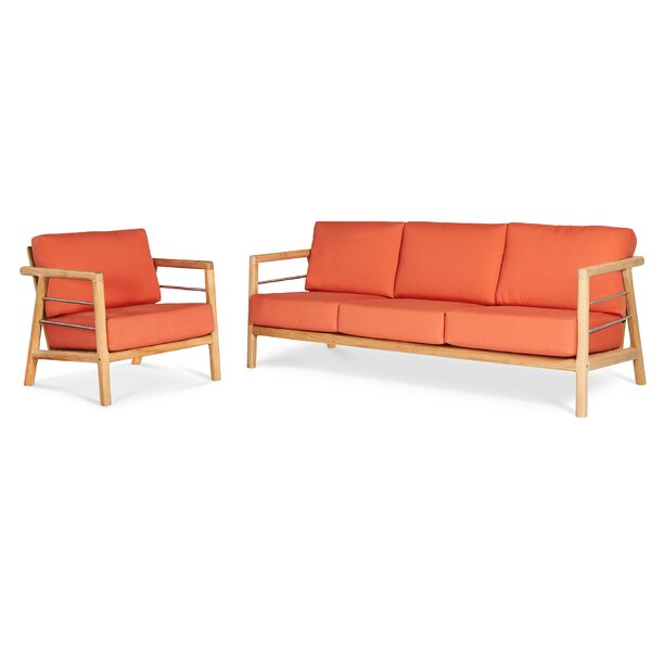 Aalto Patio Sofa with Sunbrella Cushions by HiTeak Furniture