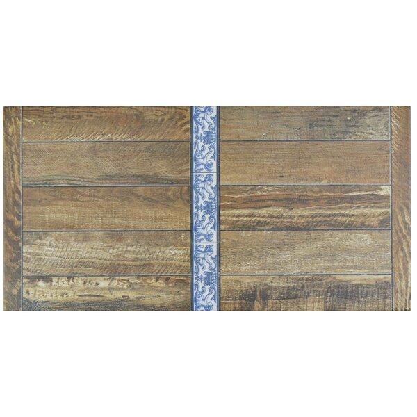 Guiana 11 x 22.13 Porcelain Wood Look in Brown by EliteTile