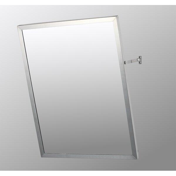 Cromer Stainless Steel Mirror 30 x 16 Surface Mount Framed Medicine Cabinet Adjustable Shelves by Ebern Designs