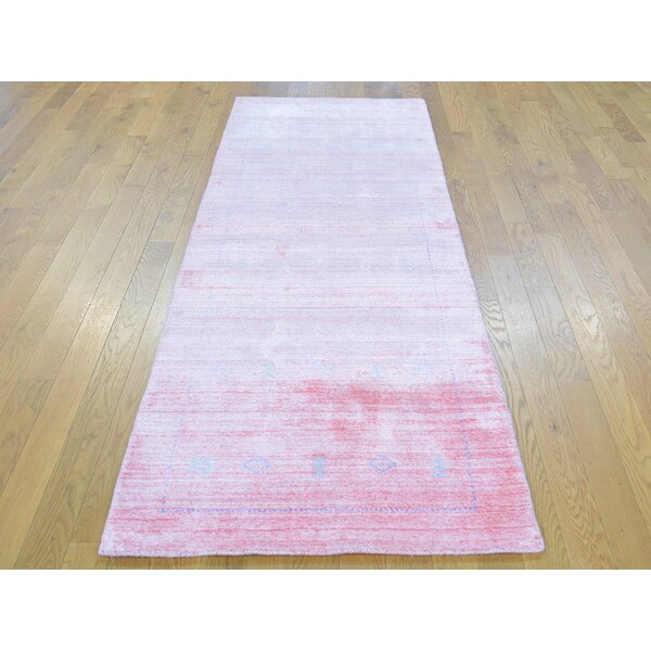 One-of-a-Kind Becker Folk Art Handwoven Pink Wool Area Rug by Isabelline