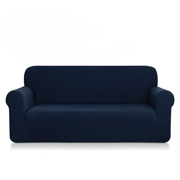 Ultra Soft Rhombus Box Cushion Sofa Slipcover By Red Barrel Studio