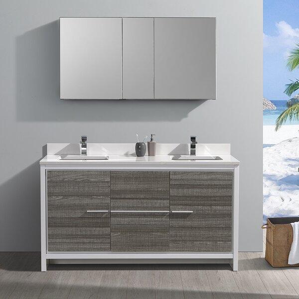 Trieste Allier Rio 60 Double Bathroom Vanity Set by Fresca