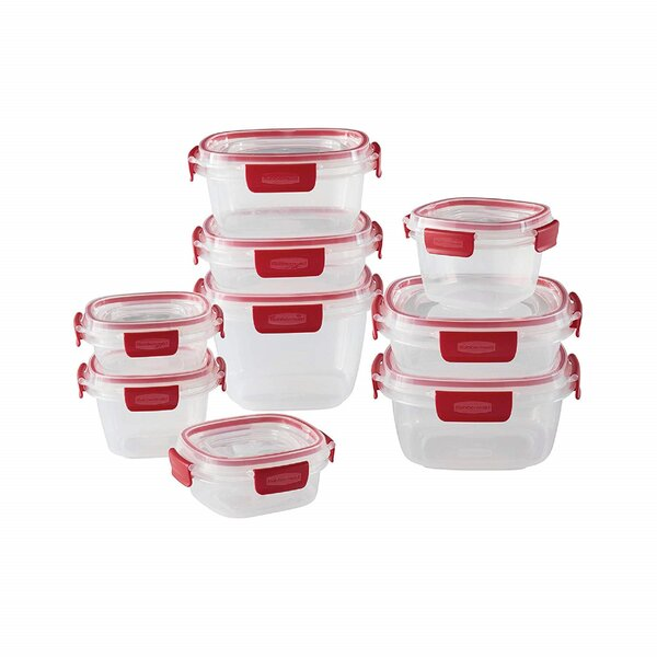 Easy Find Lids Tabs 9 Container Food Storage Set by Rubbermaid