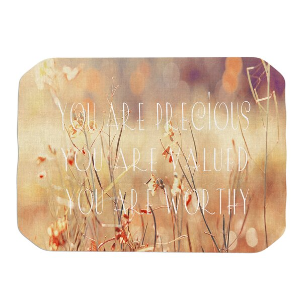 You Are Precious Placemat by KESS InHouse