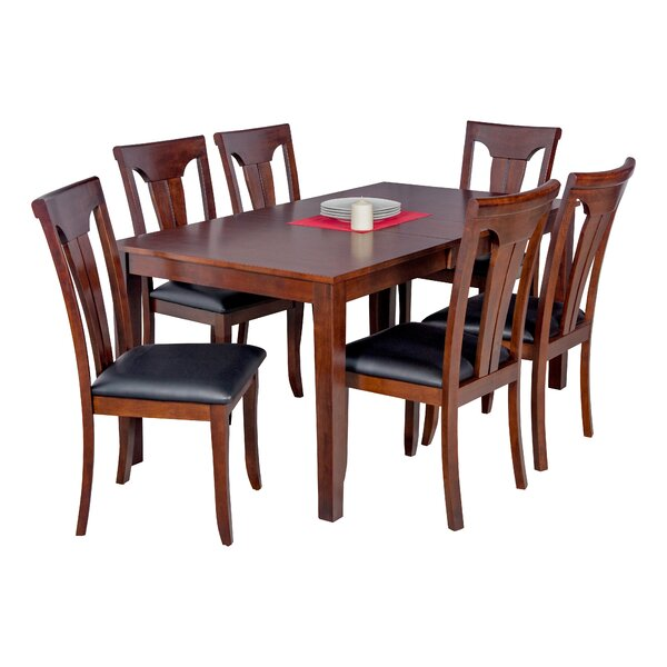 Downieville-Lawson-Dumont 7 Piece Solid Wood Dining Set by Loon Peak