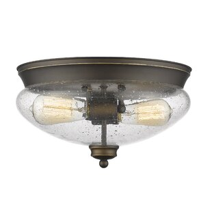 Where buy  Casselman 2-Light Glass Shade Flush Mount By Darby Home Co