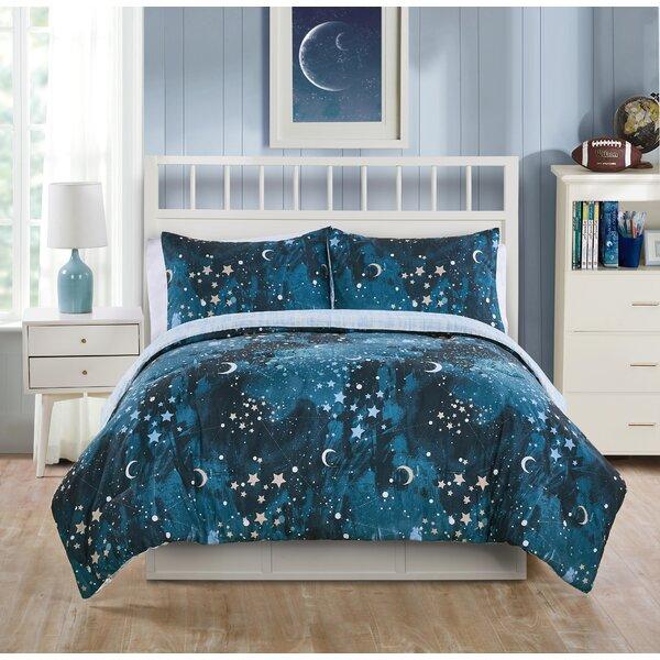 Muscari Through the Milky Way Reversible Comforter Set by Latitude Run
