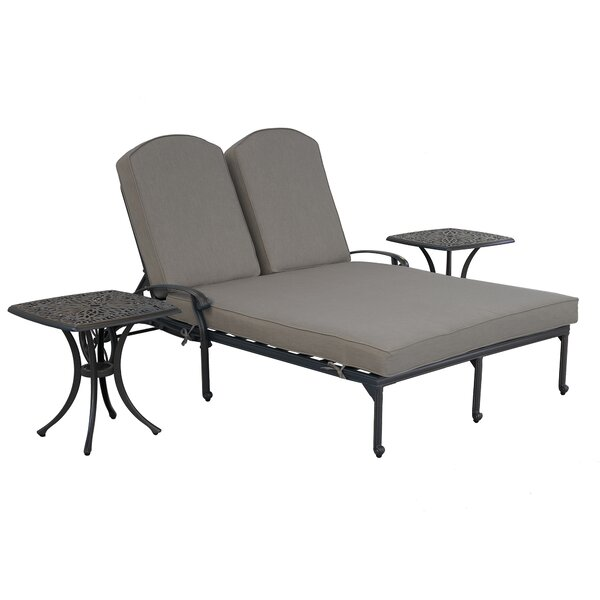 Ouinane Double with Cushion and Table by Charlton Home Charlton Home
