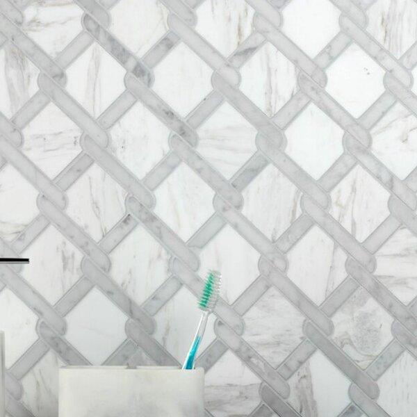 Carrera Fishing Net 12 x 12 Natural Stone Mosaic Sheet Tile