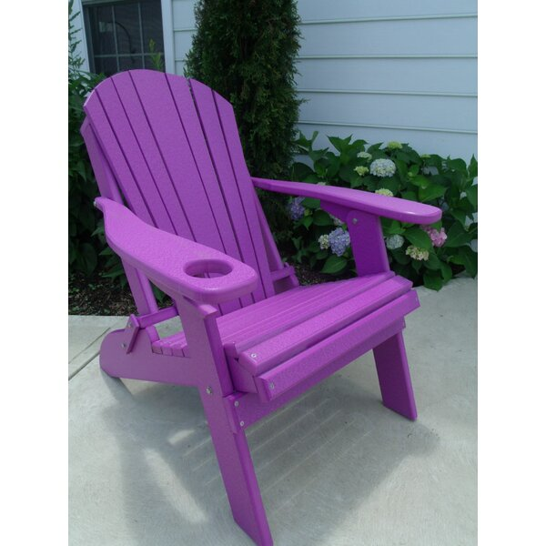 Mcguire Plastic Folding Adirondack Chair by Bayou Breeze Bayou Breeze